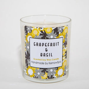 Grapefruit & Basil Scented Soy Wax Candle (Unpackaged)
