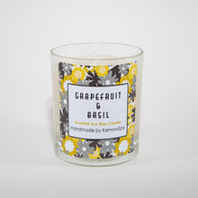 Load image into Gallery viewer, Grapefruit & Basil Large Scented Soy Wax Candle - Kernowspa