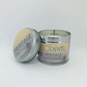 Heritage Scented Soy Wax Candle Tin - Kernowspa