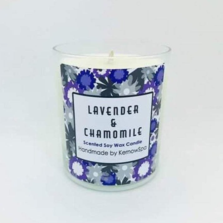 Lavender & Chamomile Scented Soy Wax Candle (Unpackaged)