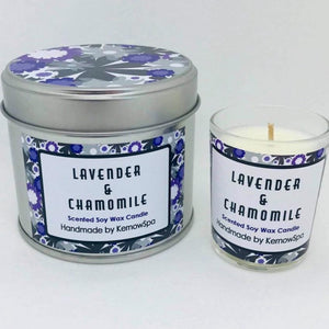Lavender & Chamomile Candle Tin and Matching Votive Candle
