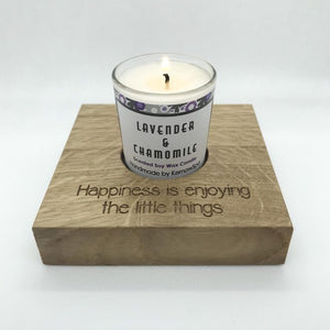 Lavender & Chamomile Candle in Wooden Candle Holder
