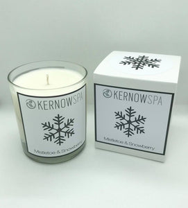 Mistletoe & Snowberry Festive Large Candle
