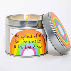 NHS Charity Rainbow Candle - Kernowspa