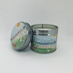 Summer Scented Soy Wax Candle Tin - Kernowspa
