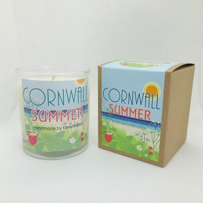 Summer Large Scented Soy Wax Candle - Kernowspa
