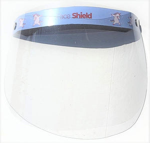 Older Kids CARE Package: 1 Face Shield + 2 Disposable Face Masks (random color chosen)
