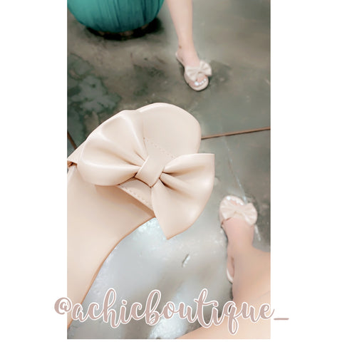 Minnie Bow Sandals- Nude