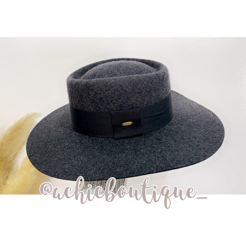 CC Wool Hat- Charcoal