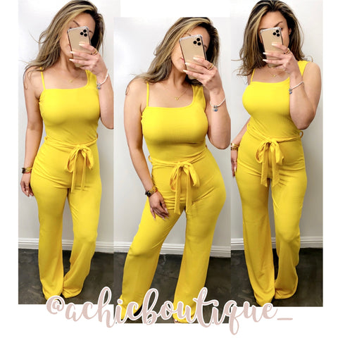 Lourdes Jumpsuit- Yellow