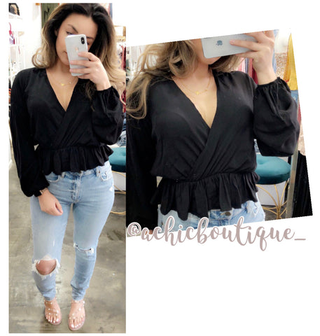 Ally Blouse- Black