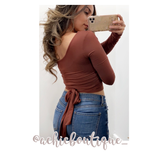 Mila Top- Red Brown