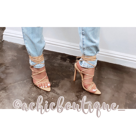 Gia Strappy Heels- Nude