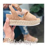 Summer Essential Flatform Sandal- Tan