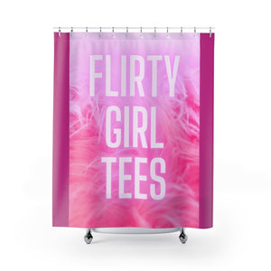 Flirty Girl Tees-Shower Curtains - Flirty Girl Tees