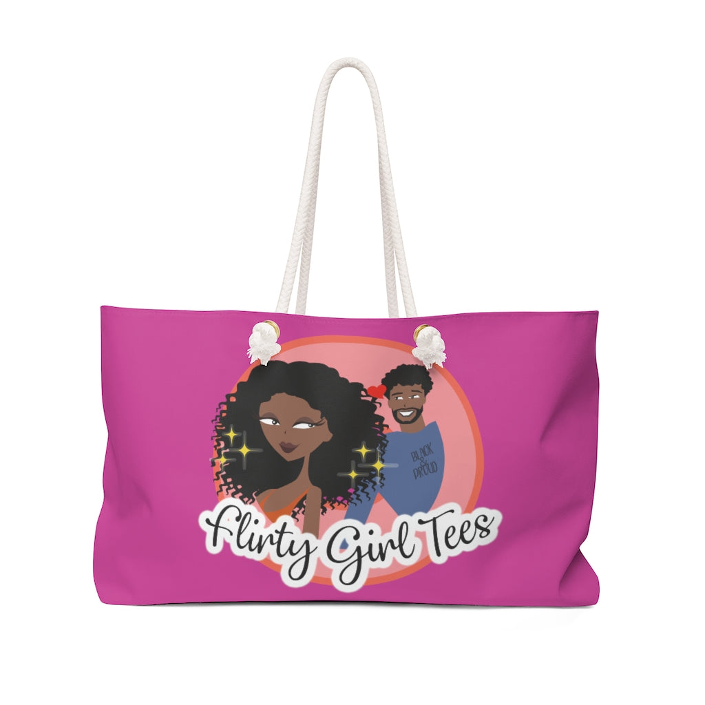 Flirty Girl Signature-Weekender Bag - Flirty Girl Tees