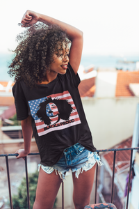Black American Woman 1 - Flirty Girl Tees