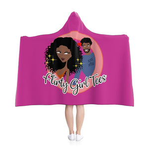 Flirty Girl Tees Signature Hooded Blanket - Flirty Girl Tees
