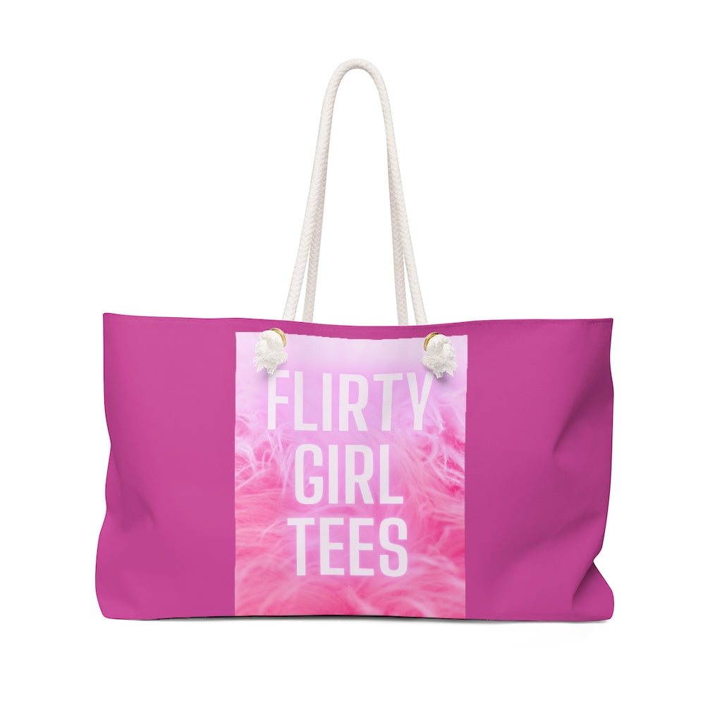 Flirty Girl-Pink-Weekender Bag - Flirty Girl Tees