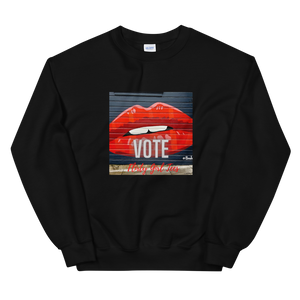 Red Lips-Vote Sweatshirt - Flirty Girl Tees