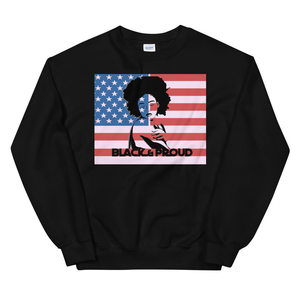 American Black Woman 2 Sweatshirt - Flirty Girl Tees