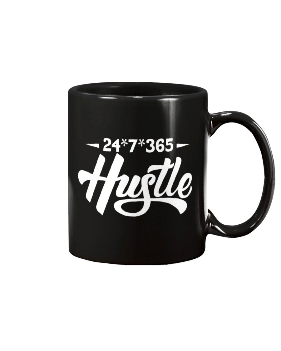 24*7*365- Hustle Ceramic Mug - Flirty Girl Tees