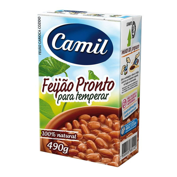Ready-To-Eat Pinto Beans 17.28oz - Feijão Carioca Pronto 490g
