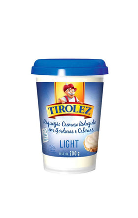 Light Tirolez Cheese Spread 7.05oz - Requeijão Tirolez Light 200g