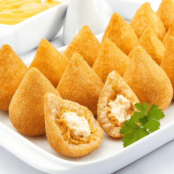 Frozen Cocktail Chicken with Catupiry Cheese Coxinha 15 Units - Coxinha de Frango com Catupiry Cocktail Congelada 15 Unidades
