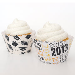 Graduation Cupcake Wrappers and Accessories