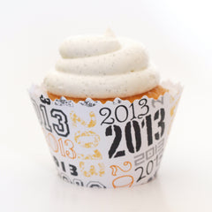 New Years Cupcake Wrappers