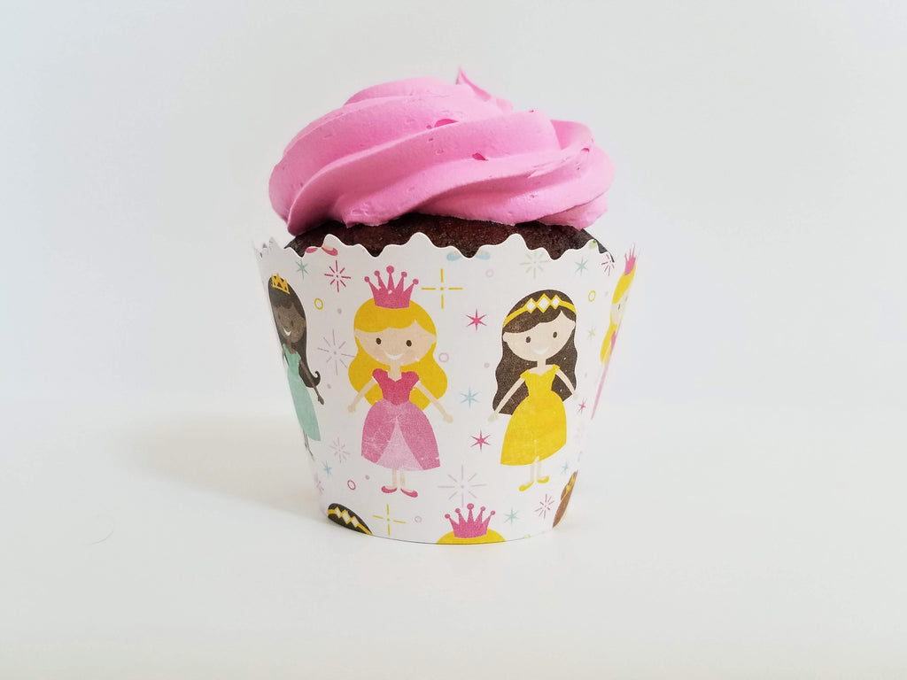 Princess Party & Sparkle Cupcake Wrappers - Set of 12