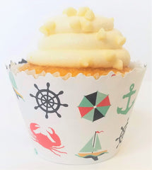 Anchors Away Cupcake Wrappers - Set of 12