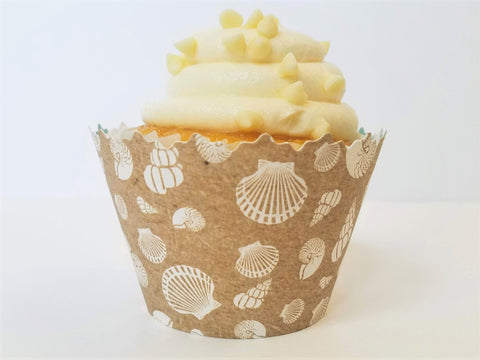 Seashell & Chevron Cupcake Wrappers