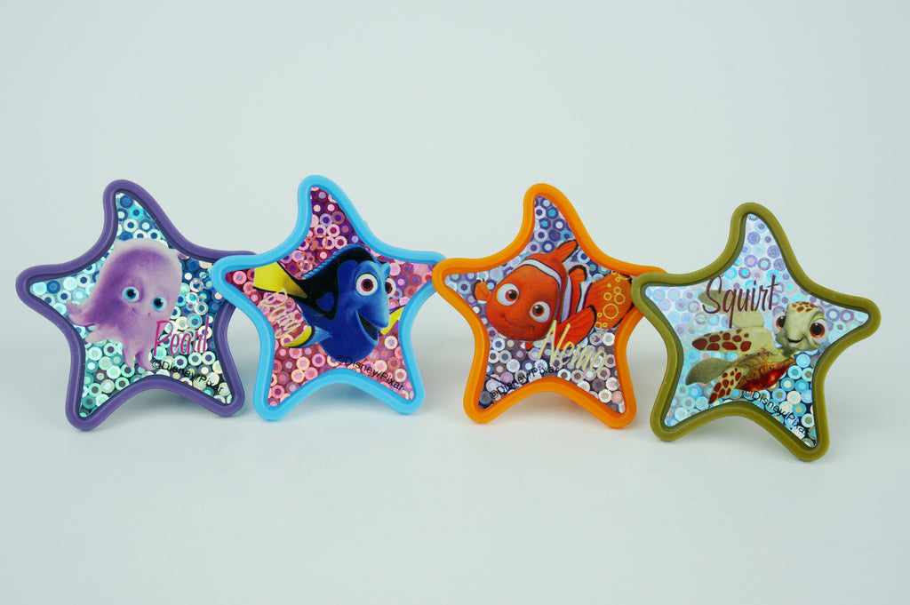 Simply Wrappers - Finding Nemo colorful starfish cupcake toppers - Set of 12 - Disney