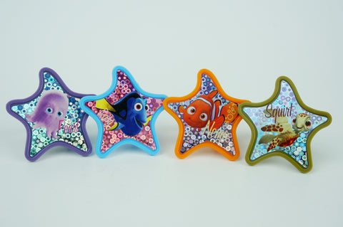 Finding Nemo colorful starfish cupcake toppers - Set of 12
