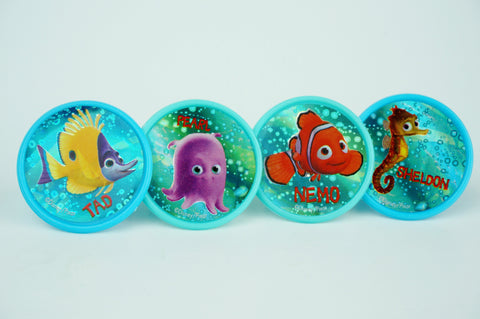 Finding nemo blue bubbles cupcake toppers - Set of 12