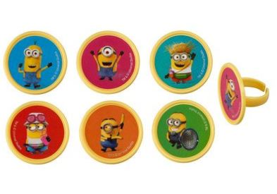 Despicable Me 3 - Mayhem Cupcake Rings/Toppers - Set of 12