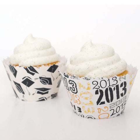 2015 Celebration Graduation Caps Cupcake Wrapper Combo Pack, Adjustable - Set of 24