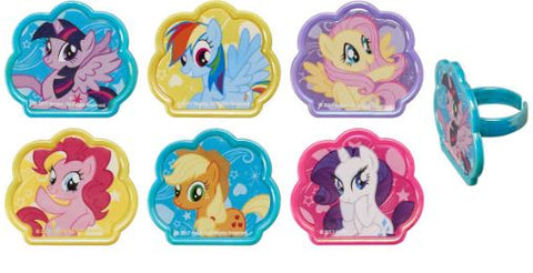 My Little Pony Cutie Beauty Cupcake Rings/Toppers - Set of 12