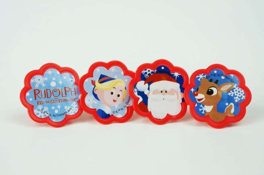 Rudolph and Friends cupcake toppers - Set of 12