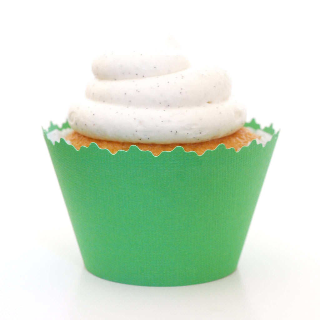 Simply Wrappers - Lime Green Solid Color Textured Cupcake Wrapper