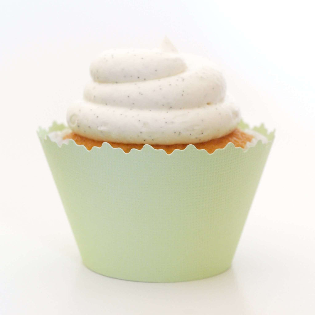 Simply Wrappers - Celery Light Green Solid Color Textured Cupcake Wrapper