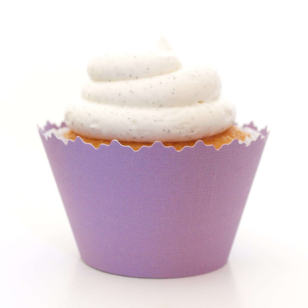 Simply Wrappers - Izmir Purple Solid Color Textured Cupcake Wrapper