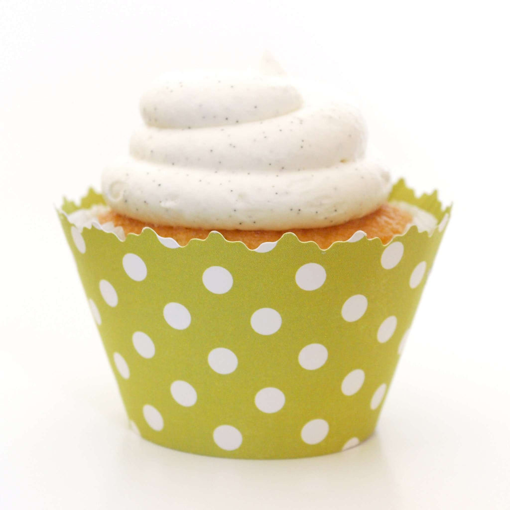 Simply Wrappers - Leaf Green Polka Dots Cupcake Wrapper