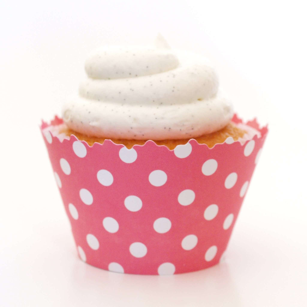 Simply Wrappers - Bubblegum Pink Polka Dots Cupcake Wrapper