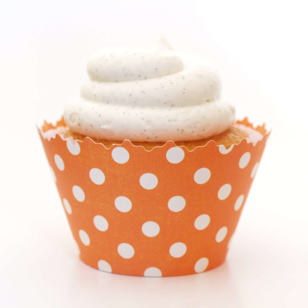 Simply Wrappers - Mango Orange Polka Dots Cupcake Wrapper