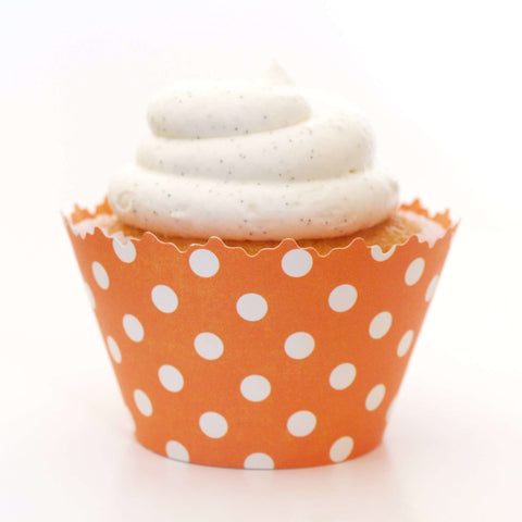 Mango Orange Polka Dots Cupcake Wrapper, Adjustable, Adjustable - Set of 12
