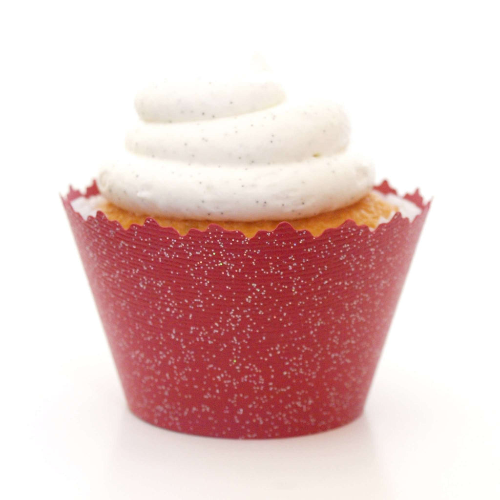 Simply Wrappers - Glitter Red Brick Sparkly Cupcake Wrapper