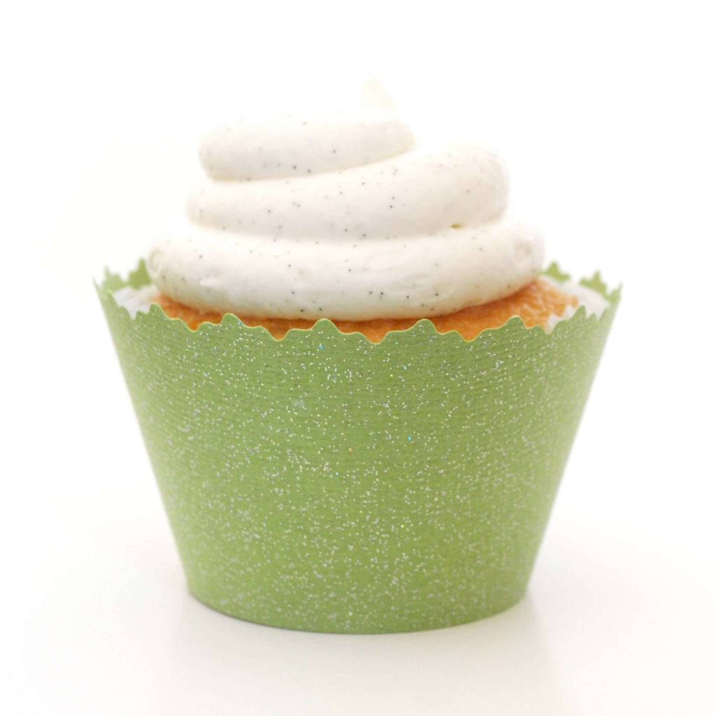 Simply Wrappers - Glitter Apple Martini Green Sparkly Cupcake Wrapper